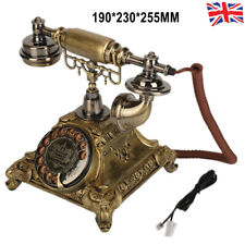 More details for retro rotary phone vintage turntable dial telephone old fashioned redial home uk