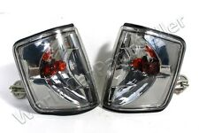 Corner Lights Turn Signal Crystal Gray SET Fits MERCEDES 190 W201 83-95