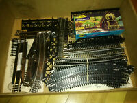 HUGE Bachman Electric Train Set Lot Engines Tracks Cars & Much More! Santa Fe