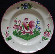 A7) Belle assiette signée ST CLÉMENT FRANCE en excellent état (décor au coq)