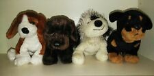 FOUR, Webkinz Dogs, Retired, VGC, Beagle, Chocolate Lab, Rottweiler, Cheeky Dog