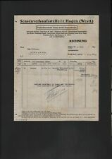 HAGEN, Rechnung 1925, Sensenverkaufsstelle GmbH