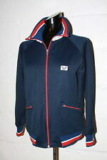 VTG Kawasaki Racket Sportswear Red White Blue Full Zip Track Jacket Sz XS NICE