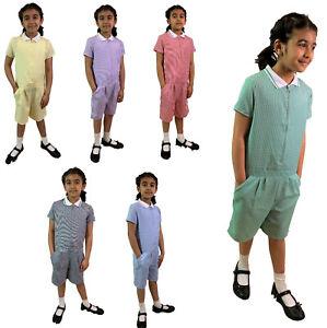 PLAYSUIT School Uniform Summer Gingham Girls School Dress. Ages from 3 - 12