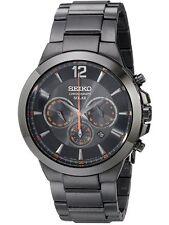 Seiko Solar Chronograph SSC323 Mens Black Dial Analog Quartz Watch