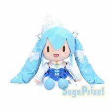 UK SELLER Hatsune Miku Snow Miku 2019 BIG plush Sega 30cm Japan NEW
