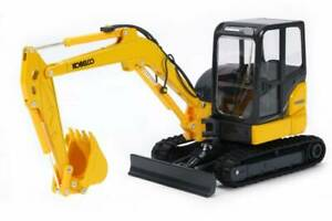 Kobelco SK55SRX Excavator - Yellow - Motorart 1:24 Scale Model #1142 New!