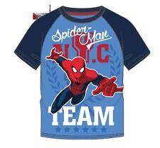 T-shirts, débardeurs et chemises bleus Marvel pour garçon de 2 à 16 ans