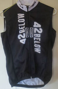 Cycling Jersey Bacardi 42 Below Vodka Sleeveless Black Tank Top Adult Medium