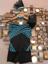 Jazz/tap Costume, Child 12/14 Black, With All Accessories