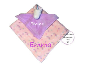 Personalised Baby Blanket Unicorn Comforter New Baby Shower Gift Set Embroidered