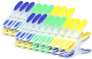 STRONG PLASTIC CLOTHES PEGS CLIPS PINE WASHING LINE AIRER DRY LINE HOME GARDENS