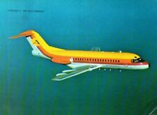 Postcard Airline FOKKER F28 FELLOWSHIP Airplane Flying 3923