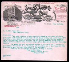1903 Sears Roebuck and Co - Bicycle Department - Chicago  - Letter Head Rare