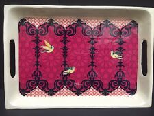 India Circus KRSNA Mehta Flight Of Birds Serving Tray Tea Aluminum Painted