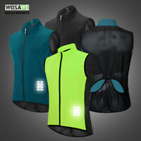 Mens Cycling Vest Reflective Bicycle Gilet MTB Sleeveless Bike Jerseys Cycle Top
