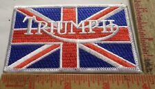 Vintage Triumph patch old British motorcycle collectible biker vest memorabilia