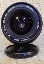 YASHICA Kyocera Contax/Yashica mount AF 35-70mm f/ 3.3-4.5 MACRO Camera Lens,Ex+