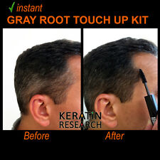 Gray away instant Hair Root Touch up Concealer 7ml Dual Brush MED BROWN color US
