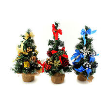 """10"""" Mini Desk Top Office Bedroom Artifical Christmas Tree With Base Xmas Gift"""
