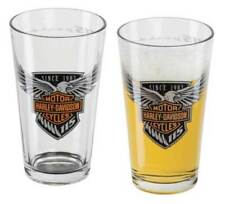 Harley Davidson 115th Anniversary Etched Pint Glass Set of 2