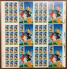 "US #3306, UNCUT PRESS SHEET, 33¢ ""Daffy Duck"". W/Plate#. MNH. CV $110. (BJS)."