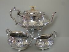 MAGNIFICENT VICTORIAN STERLING SILVER TEA SET - SHEFFIELD 1900 - 993g
