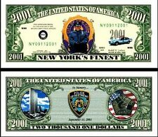 New York's Finest NYPD 2001 Dollar Bill Collectible Funny Money Novelty Note