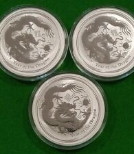 1oz 2012 Lunar Dragon .999 Silver CoinPerth Mint Australia