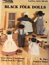 Leisure Arts Black Folk Dolls Leaflet