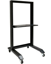 "20U Movable 19"" 2 Post Open Frame Heavy Duty IT Network Data Server Rack"
