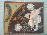 "#ORIGINAL 1800's VICTORIAN Trade Card CLARK'S Calendar 1883 4 x 3.5"""