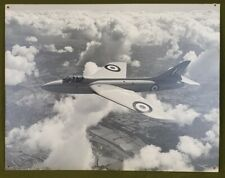 E458 A Hawker Company Official Black & White Photograph Of A Hawker Hunter