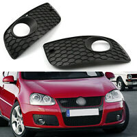2 Pcs New Bumper Grille Fog Lamp Cover For Volkswagen Golf 2006-2009 MK5 GTI A01