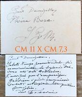 Follini Carlo Torino pittore biglietto da visita autografo