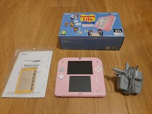 Nintendo 2DS Pink Console Handheld - Original Charger & Stylus 4Gb SD Card Boxed