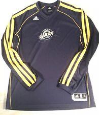 UTAH JAZZ LONG SLEEVE Navy Adidas Size Mens XL PULLOVER NBA SHIRT A7