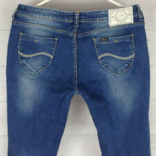 LEE ROXY Fit Low Rise Women's Size W31 x L32 Slim Blue Medium Wash Denim Jeans