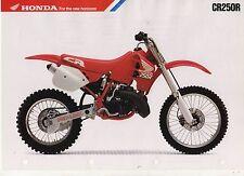 1989 HONDA CR250RK 2 Page Motorcycle Brochure NCS