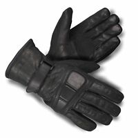 Motorbike Motorcycle Leather Gloves DEMON Natural Cowhide premium A+ Grade