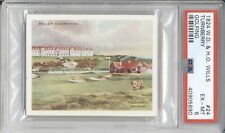 """1924 W.D. & H.O. Wills """"TURNBERRY"""" #24 Vintage Golf Course Card PSA 6 EX-MT"""