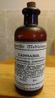 Vintage Medicine Hand Crafted Bottle, Cannabis, Specific Medicines