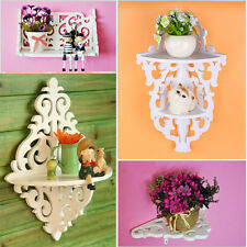 White Shabby Chic Filigree Style Shelves Cut Out Design Wall Shelf Candle Home