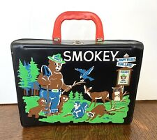 Rare Vintage 1960's King-Seeley Thermos Smokey The Bear Vinyl Lunchbox