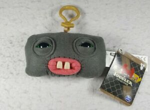 """Fuggler Funny Ugly Monster Clip-On 5"""" Keychain, Squidge (Gray Grey) Brand New!"""