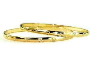 SALE!!!  BOGO Gold Bangles Authentic Gold Filled 1/20 -14K  Women Sizes Bangles
