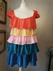 Olivia Rubin Clarrisa colour block sequined mini dress size uk 12