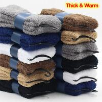 Warm Long Thicken Fleece Lined Socks Women Soft Warm Cozy Fuzzy Slipper Socks