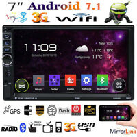 """Quad Core Android 7.1 3G WIFI 7"""" Touch Car Radio Stereo MP5 MP3 Player GPS Nav"""