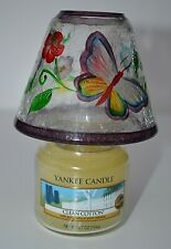 VINTAGE YANKEE CANDLE:    SMALL GLASS LANTERN  - SUPER CONDITION!